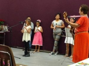 Music students perform for families